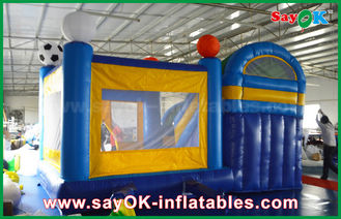 الصين 4x3m صغير قابل للنفخ PVC ترتد القلعة المتزلج مع كرة القدم Decoratiionn المزود
