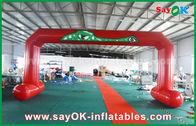 الصين PVC أحمر ابدأ المطبوعة خط النهاية الأقواس الخياطة مزدوجة نفخ مدخل القوس مصنع