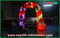 الصين الديكور Mylon القماش قابل للنفخ القوس عيد الميلاد القوس مع الصمام الخفيفة مصنع