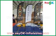 الصين المحمولة نفخ الهواء سكين العلم للطي خيمة لتعزيز / الإعلان مصنع