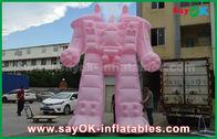 الصين الوردي أكسفورد القماش / بك نفخ روبوت ل خارج الإعلان المنتجات مصنع