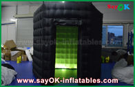 الصين 1 باب 2.5M مخصص أسود / أبيض نفخ صور بوث مع ضوء ليد أكسفورد القماش مصنع