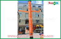 الصين أحمر / برتقالي / أزرق قابل للنفخ هواء راقص / سكاي راقص مع سي منفاخ لإعلان خارجي مصنع