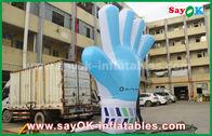 الصين عملاق أكسفورد مخصص للنفخ المنتجات، 2M طويل القامة نفخ الأزرق نموذج اليد للأحداث مصنع