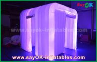 الصين أبيض أكسفورد القماش بقيادة قطاع الإضاءة نفخ صور بوث للزينة الزفاف مصنع