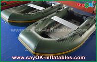 الصين الأخضر 0.9 / 1.2 مم المشمع بك إنفلاتاب قوارب مع الألومنيوم الكلمة / المجاذيف مصنع