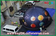 الصين 6m 210 d أكسفورد القماش المحمولة نفخ القبة السماوية قبة للسينما مع الطباعة الكاملة مصنع