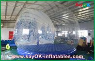 الصين 3m ضياء قابل للنفخ عطلة زخرفة / شفاف قابل للنفخ كريسماس سنو غلوب للدعاية مصنع