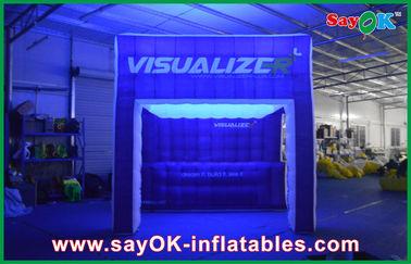 خيمة قوس قزح الإضاءة نفخ الهواء خيمة مشاهدة نفخ التخييم
