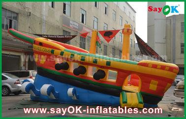 الأصفر / الأحمر / الأزرق نفخ القراصنة السفينة الإعلان التجاري قلعة ترتد البيت