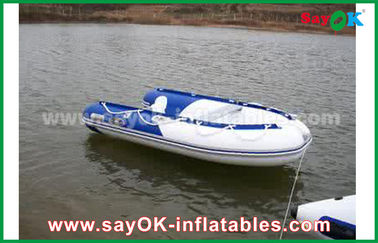 الأزرق / الأبيض الحرارة مختومة بك نفخ القوارب سباق المياه جامدة للماء