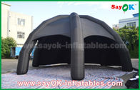 أسود PVC نفخ الهواء خيمة / الإعلان قبة العنكبوت خيمة مع المنفاخ